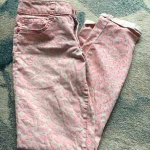 lei Jeans - Capris, Leopard Pink
